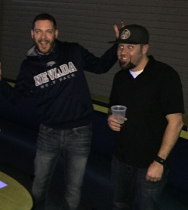 Joey and Dugan having some fun at PK Bowling Night!